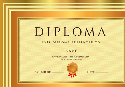 diploma certificate template free vector download 15 121 free