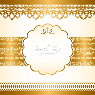 gold elements vector backgrounds