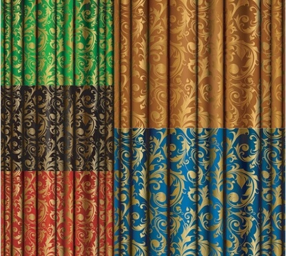 gold fabric pattern vector