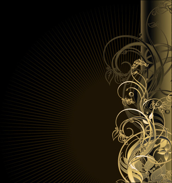 gold floral vector backgrounds art