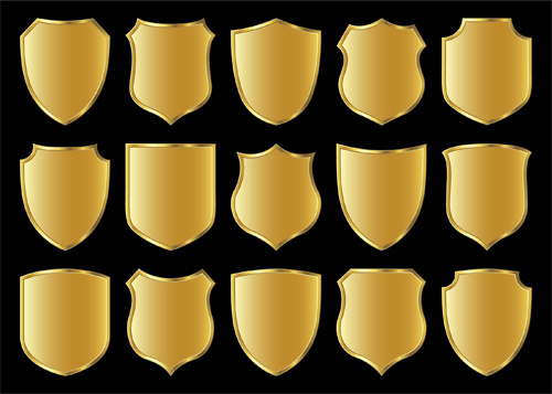 gold lables blank template vector