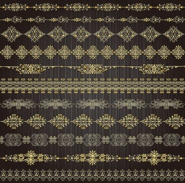 gold lace pattern 02 vector