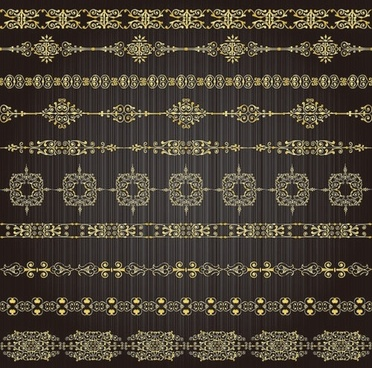 gold lace pattern 03 vector