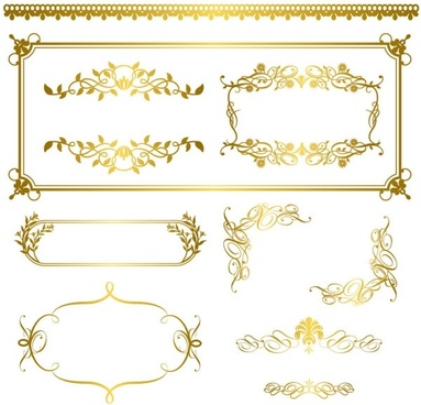 gold lace pattern 05 vector
