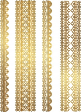 decorative pattern elegant classic symmetric golden lace decor