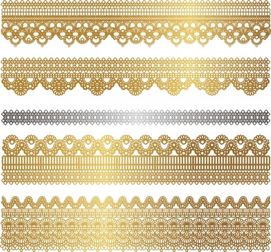 pattern design elements elegant golden classic symmetric seamless
