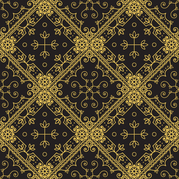 gold lineart seamless pattern luxury vector