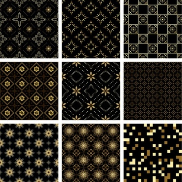 gold pattern background vector