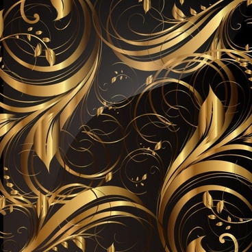 gold pattern patterns 01 vector