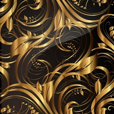 gold pattern patterns 02 vector