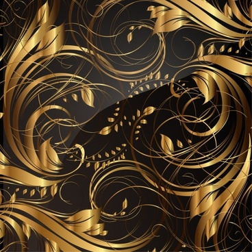 gold pattern patterns 04 vector