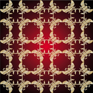 gold pattern shading 05 vector
