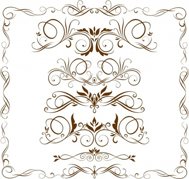 frame design elements classical symmetric curves decor