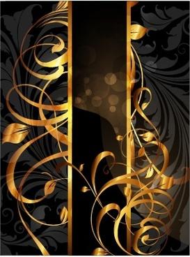 decorative background luxury modern golden bokeh dark design