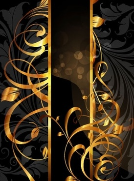 gold pattern vector 2