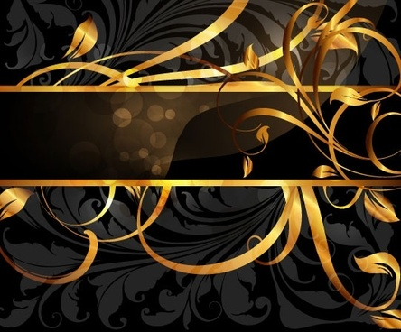 gold pattern vector 3