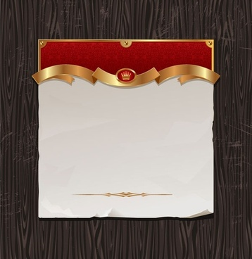 gold ribbon of wood background vector