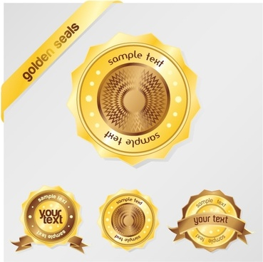 gold sales tag vector