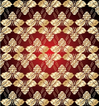 gold shading pattern 01 vector