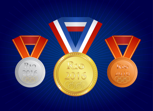gold silver and bronze medals rio 2016 olympic summer games