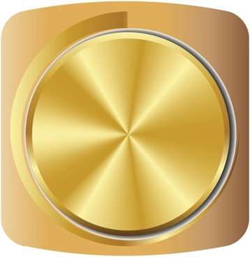 gold volume knob 01 vector