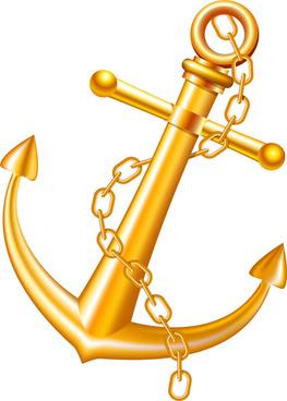 golden anchor illustration