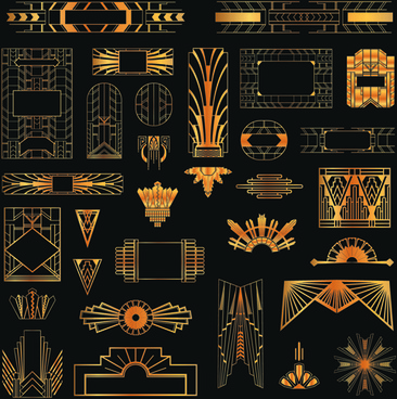golden art ornament elements vector