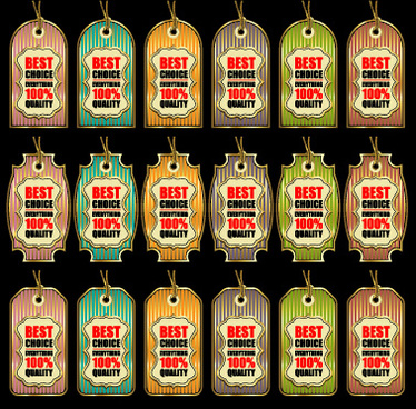 golden best sales tags vector