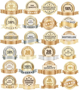 golden bottle label collection 02 vector