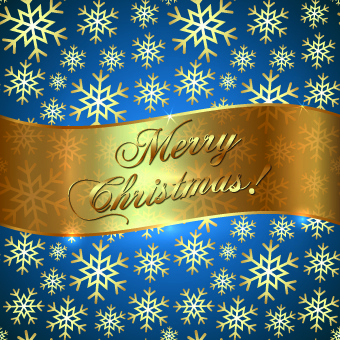 golden christmas background and golden snowflake vector