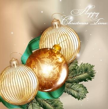 golden christmas balls14 background vector
