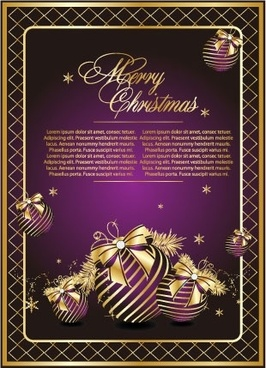 golden christmas theme vector 1