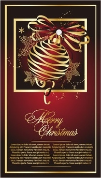golden christmas theme vector 2