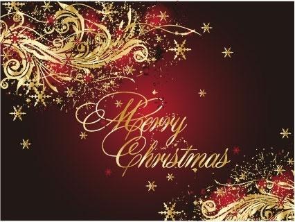 golden christmas theme vector 4