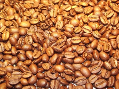 golden coffee beans