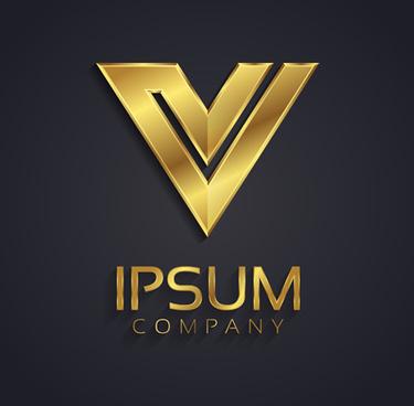 golden company logos vectors
