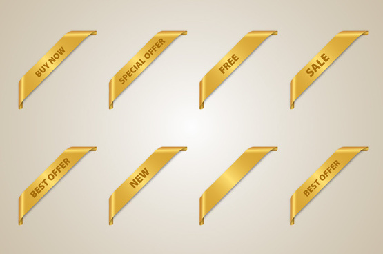 golden corner ribbon set