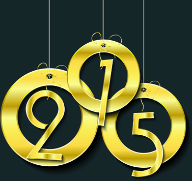 golden creative15 new year vector