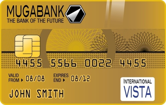 Golden Credit Card clip art