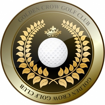 Golden Crown Golf Club Shield