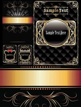 golden decorative pattern background vector