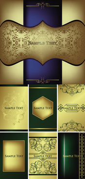 golden decorative pattern background vector graphics