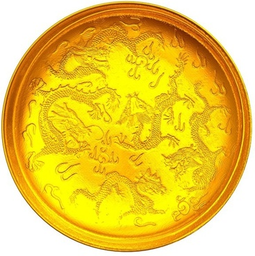 golden dragon plate