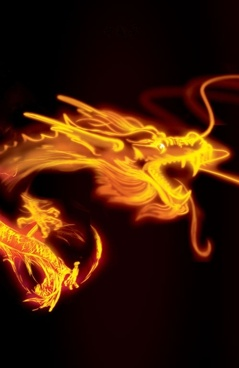 golden dragon psd layered