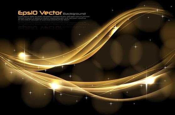 golden dynamic background vector