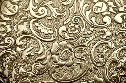 golden european pattern background image