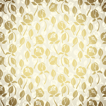 golden flower seamless pattern vector