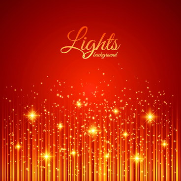 golden glow red background vector
