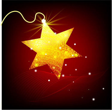 golden glowing star background