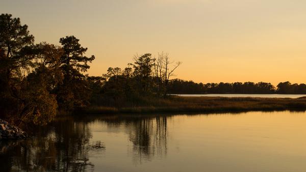 golden hour reflection